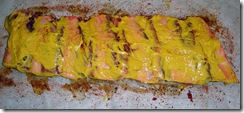 Beef ribs and yellow mustard