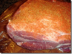 Pork Butt with Rub