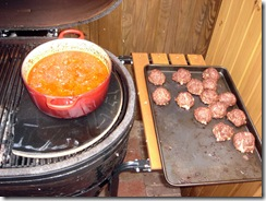 Sauce on Primo Meatballs on Side